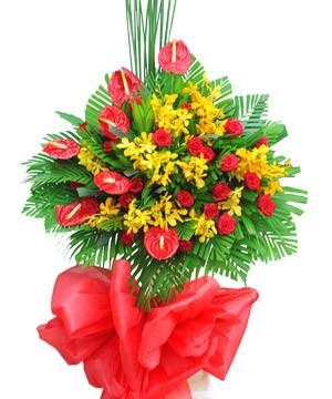 lẵng hoa khai trương tươi đẹp, giá rẻ, giao hoa tận nơi.