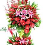 Hoa khai trương đỏ Hồng Phát